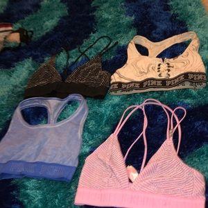 Pink sports bra in a bundle